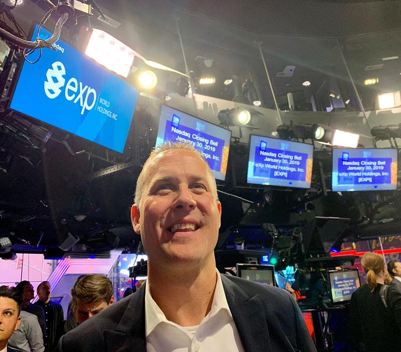 Darren Jacklin - rings the NASDAQ bell